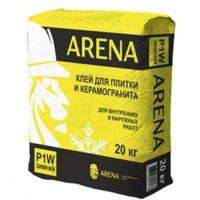 ARENA P1W 20 кг — клей для плитки и керамогранита для внутренних и наружных работ зимний.