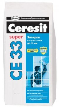 Затирка Ceresit СЕ33 (белая №01) 2-5 мм, 2 кг