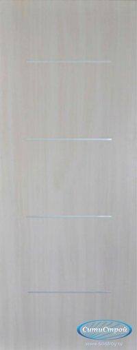 Ламинированная дверь с молдингом ДГ-300 цвет Дуб Беленый