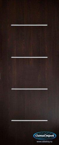 Ламинированная дверь с молдингом ДГ-300 цвет Венге