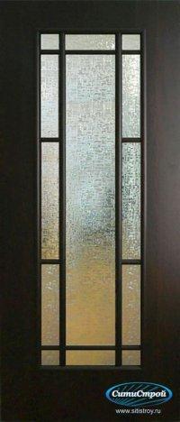 Ламинированная дверь со стеклом ДО-09 цвет Венге