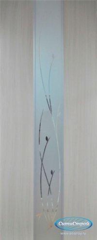 Ламинированная дверь с молдингом ДО Стиль Ветка цвет Дуб Беленый