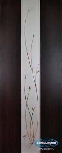 Ламинированная дверь с молдингом ДО Стиль Ветка цвет Венге