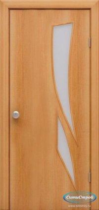 Ламинированная дверь со стеклом Лиана цвет Миланский Орех