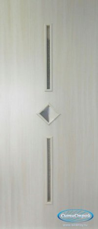 Ламинированная дверь со стеклом Лира цвет Дуб Беленый