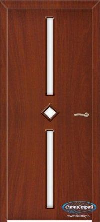 Ламинированная дверь со стеклом Лира цвет Итальянский Орех