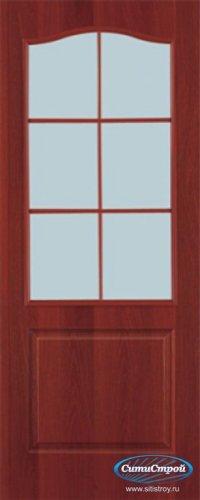 Ламинированная дверь со стеклом Палитра цвет Итальянский Орех