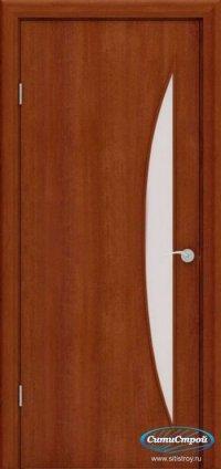 Ламинированная дверь со стеклом Парус цвет Итальянский Орех
