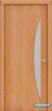 Ламинированная дверь со стеклом Парус цвет Миланский Орех