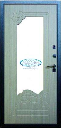 Сейф-Дверь Ольга с зеркалом, Цвет Беленный дуб
