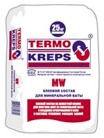 Клей для пенополистирола и минваты TERMOKREPS MW, 25 кг.