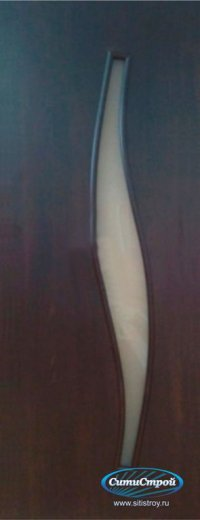 Ламинированная дверь со Стеклом Волна цвет Венге