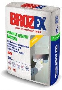 Шпаклёвка Brozex ФИНИШ ЦЕМЕНТ WR75 20 кг
