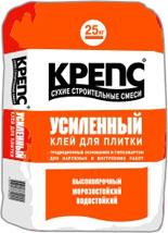 Клей для плитки Крепс Усиленный, 25 кг