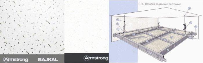 Подвесные потолки Армстронг